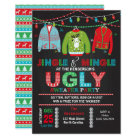 Tacky Ugly Sweater Christmas Party Invitation