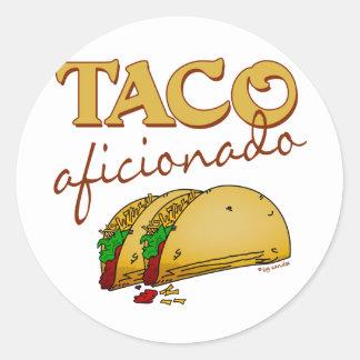 Taco Aficionado Classic Round Sticker