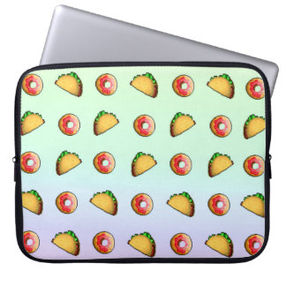 Taco and Donut Laptop Sleeve