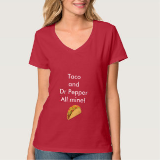 Taco and Dr Pepper Woman  V-Neck T-Shirt