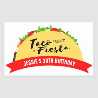 Taco 'Bout A Fiesta Rectangular Sticker