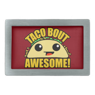 Taco Bout Awesome Rectangular Belt Buckle