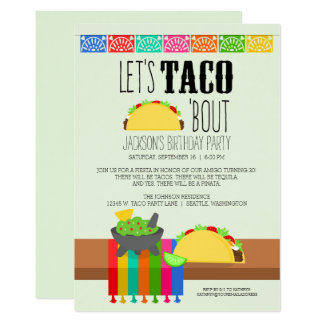 Taco 'Bout Birthday Party Card