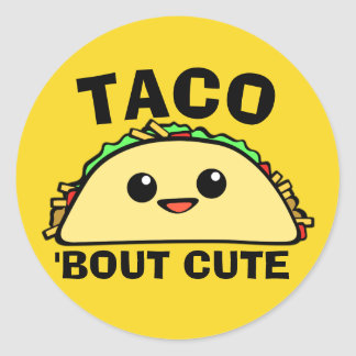 Taco Bout Cute Round Sticker