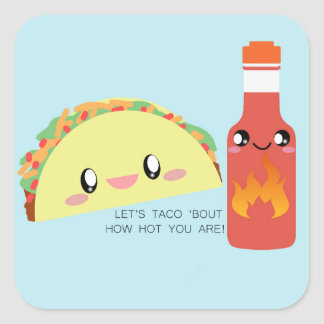TACO 'bout HOT Square Sticker (Sheet of 20)