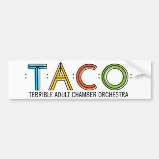 TACO Bumper Sticker Car Bumper Sticker