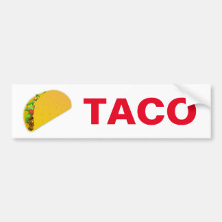 TACO BUMPER STICKER