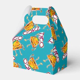 taco cartoon style funny illustration favour box