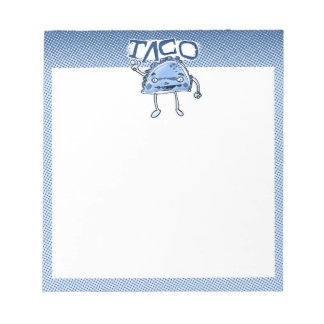 taco cartoon style funny illustration notepad