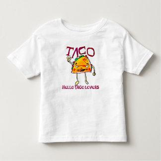 taco cartoon style funny illustration toddler T-Shirt