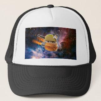 taco catand rockethamburger in the universe cap