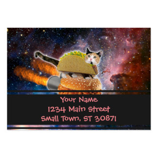 taco catand rockethamburger in the universe pack of chubby business cards