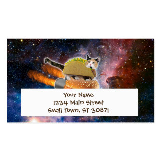 taco cat and rocket hamburger in the universe pack of standard business cards