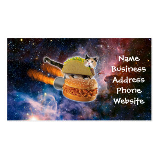 taco catand rockethamburger in the universe pack of standard business cards