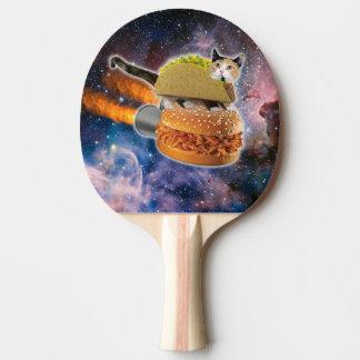 taco catand rockethamburger in the universe ping pong paddle