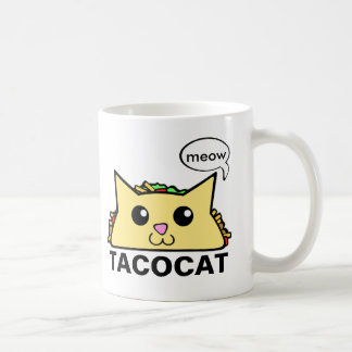 Taco Cat Basic White Mug