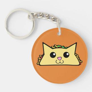 Taco Cat Key Ring