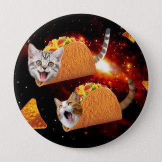 Taco Cats Space 10 Cm Round Badge