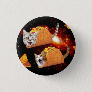 Taco Cats Space 3 Cm Round Badge