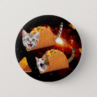Taco Cats Space 6 Cm Round Badge