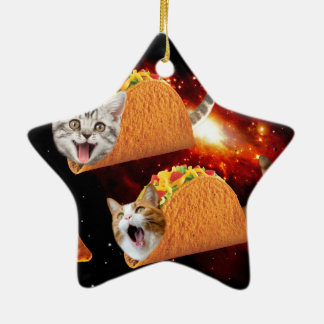 Taco Cats Space Christmas Ornament