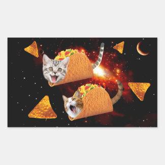 Taco Cats Space Rectangular Sticker