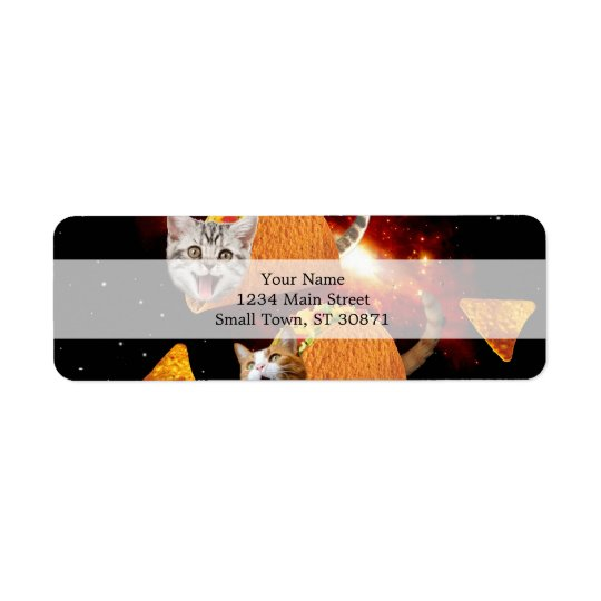 Taco Cats Space Return Address Label
