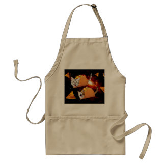 Taco Cats Space Standard Apron