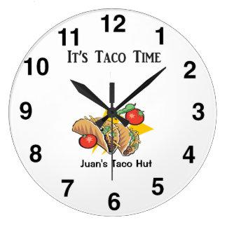 Taco Clock - Mexican Restaurant Wall Clock