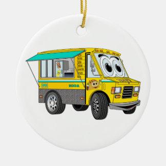 Taco Food Truck Cartoon Christmas Ornament