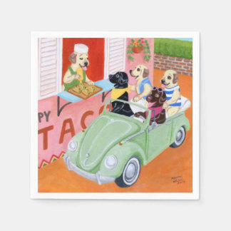 Taco Fun Labradors Disposable Napkins