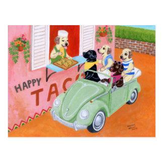 Taco Fun Labradors Postcard