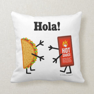 Taco & Hot Sauce - Hola! Cushion