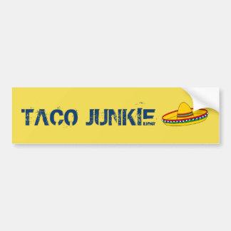 Taco Junkie Bumper Sticker