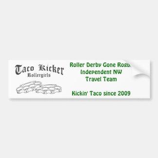 Taco Kicker RG bumpie Car Bumper Sticker