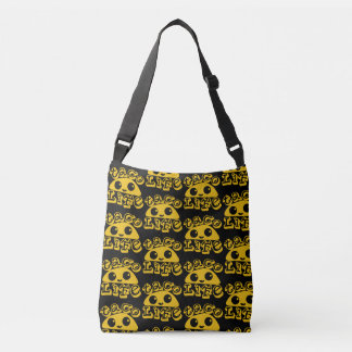 Taco Life Black TP Crossbody Bag