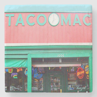 Taco Mac, Virginia Highland, Atlanta Landmark Marb Stone Coaster