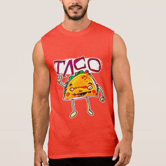 taco man cartoon style funny illustration sleeveless shirt