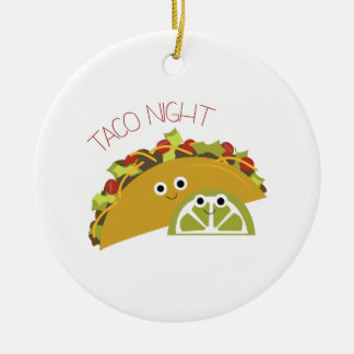 Taco Night Christmas Ornament