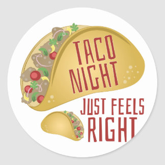 Taco Night Classic Round Sticker