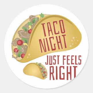 Taco Night Round Sticker