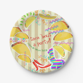 Taco Party Customizable Plate – Mexican food