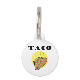 TACO PET NAME TAG