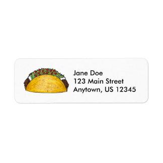 Taco Return Address Labels