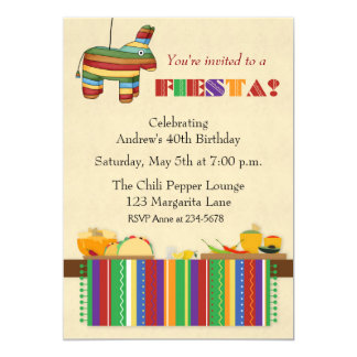 Taco Table Fiesta 13 Cm X 18 Cm Invitation Card