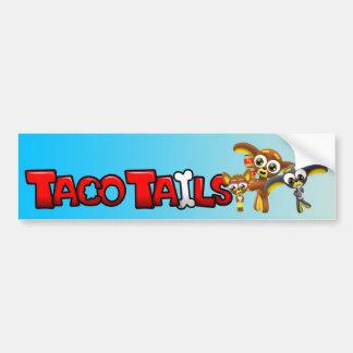 Taco Tails Three Chihuahuas Bumper Sticker