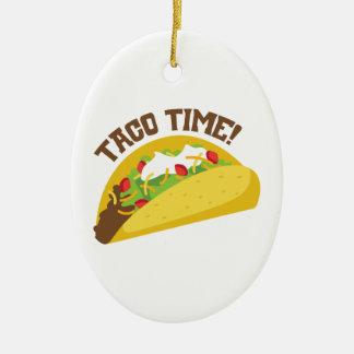Taco Time Christmas Ornament