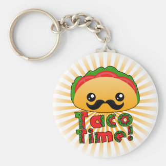 Taco Time Key Ring