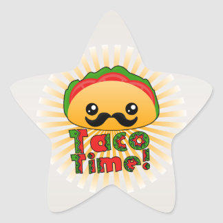 Taco Time Star Sticker