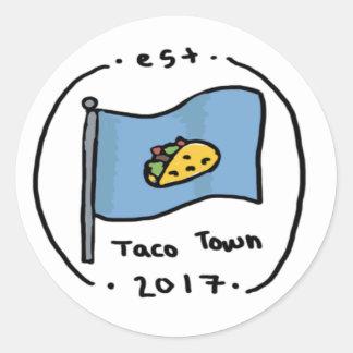 Taco Town Round Sticker